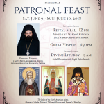 Inaugural Patronal Feast: June 9-10th, 2018